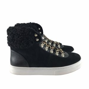 Sam Edelman Luther Faux Shearling High Top 8.5